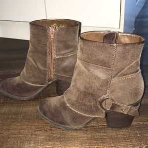 Fergalicious by Fergie brown riding style booties
